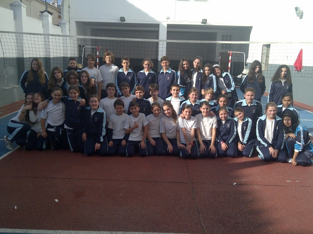 1eso y 2eso disputaron las finales de las ligas de voleibol 2012-2013